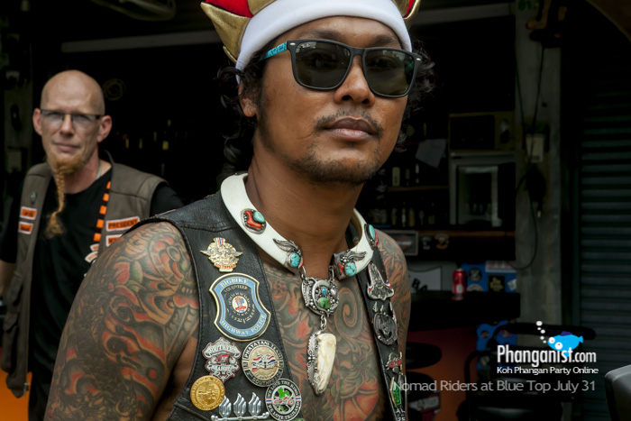 carlo, nomad riders, blue top cafe, handle bars, bike safe, charity, donation, Phangan, racing