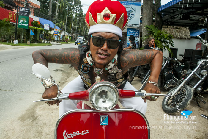 carlo, nomad riders, big bikes, donation, charity, charles, the handle bar, blue top cafe, phangan, racing