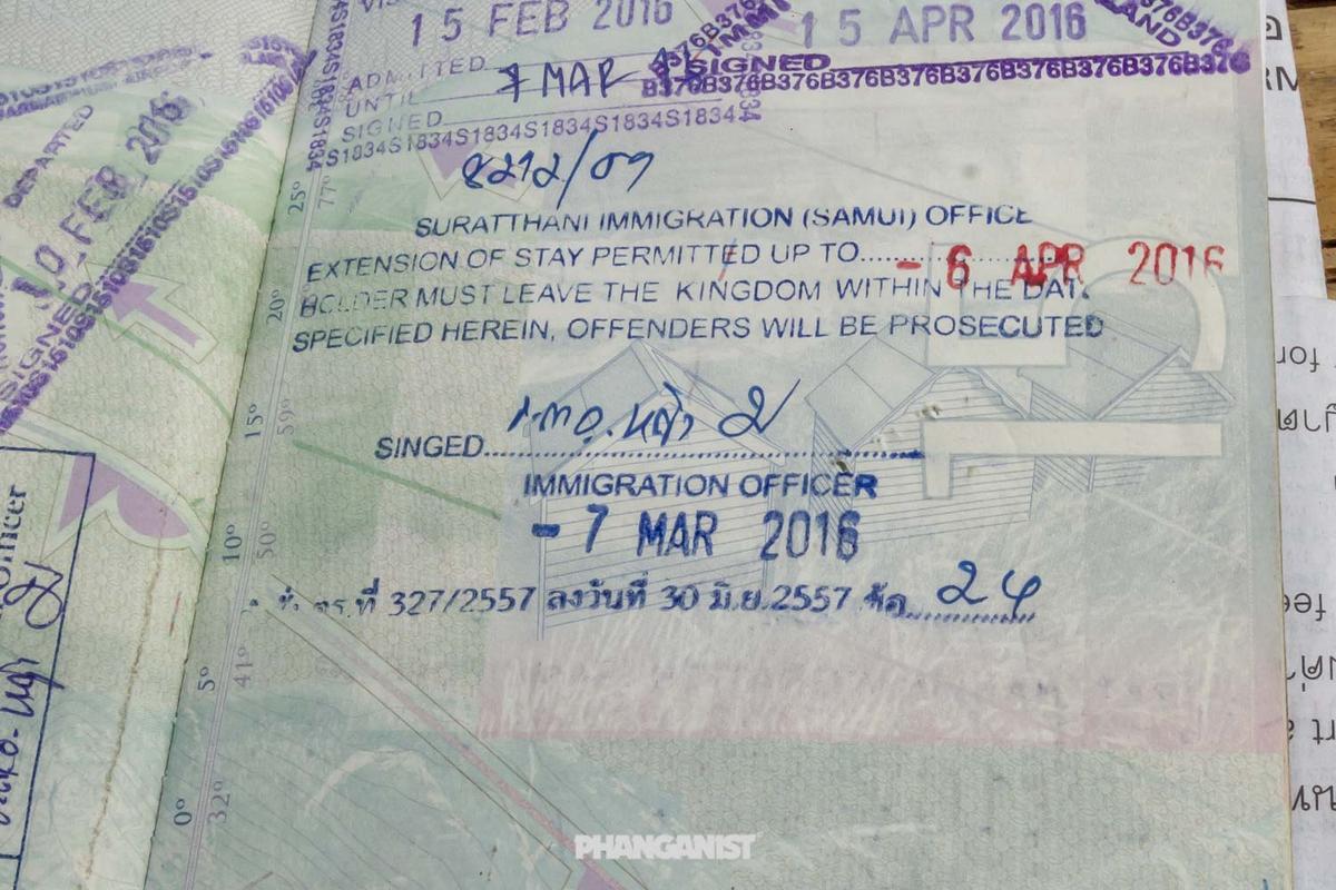 Visa Extension Stamp