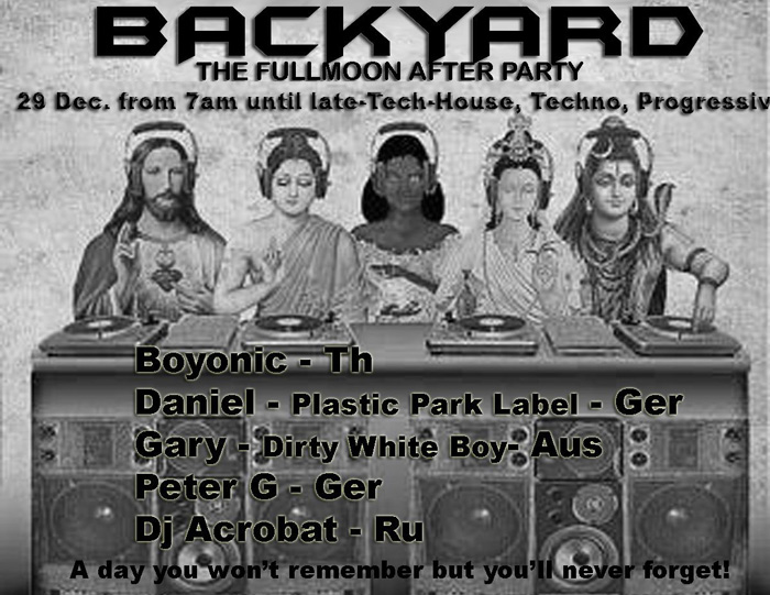 Back yard after party pre new year phagan party december 28