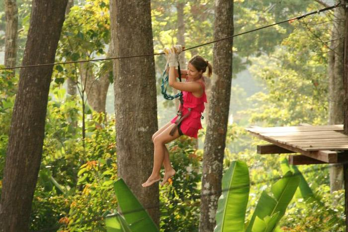 canopy zip lines, phangan, featured tour, attraction