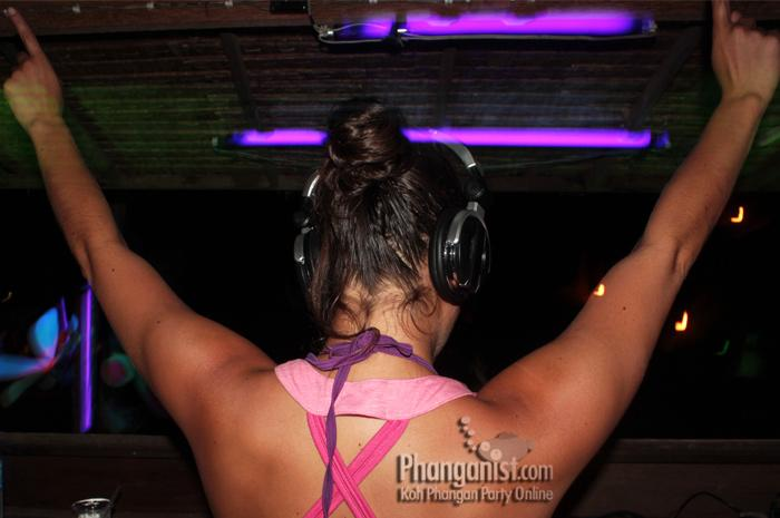 DJane Kimie on Koh Phangan