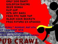 pub crawl, haad rin, danny v, party, koh phangan, featured