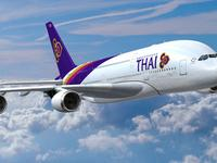 Thai Airways flight between Bangkok and Koh Phangan