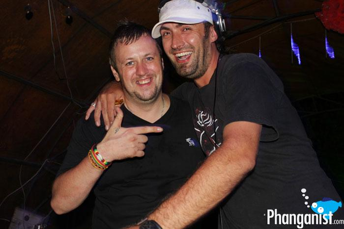 DJ Absolud with DJ Danny Nation at the Jungle experience koh phangan