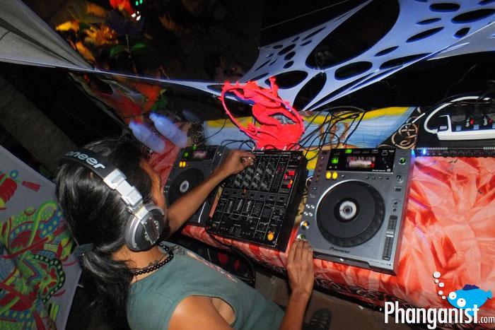 DJ Ayi at the Full Moon Party May 2012 Koh Phangan