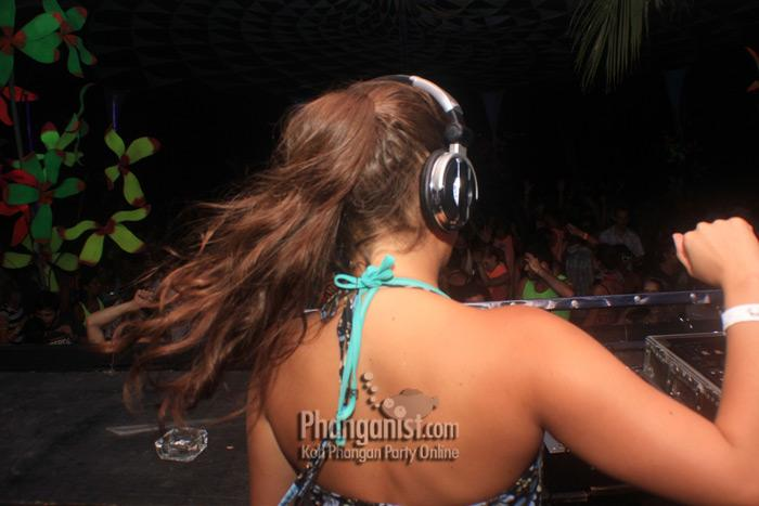 Djane Kimie at the Black Moon Party koh phangan