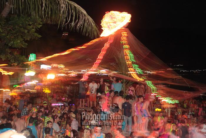 The Rock on the Full Moon party September 2012 - koh Phangan