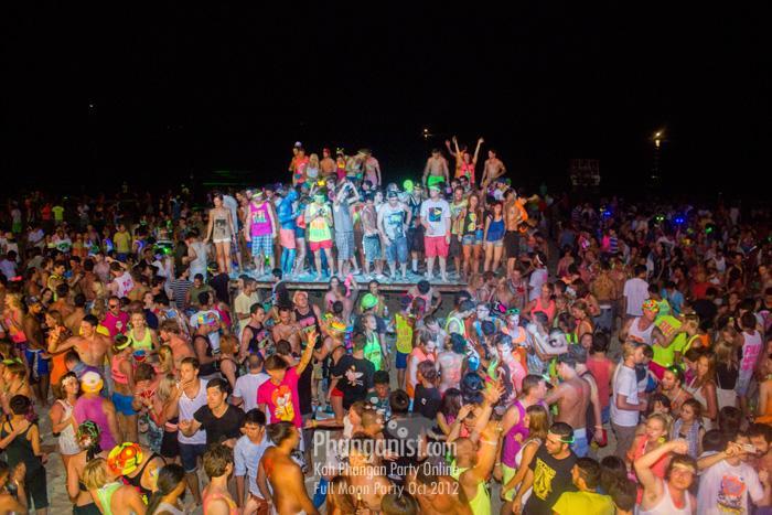 Tommy Beach Club Full Moon Party Koh Phangan October 2012