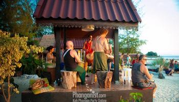 drum circle, sri thanu, beach, laem son, phangan cove, featured