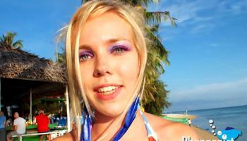 sonic girl in bikini contest in koh phangan