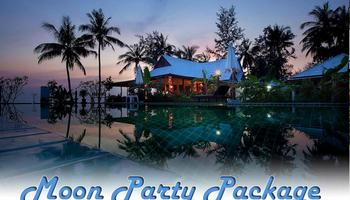 Phangan Moon Party Package, half moon, full moon, black moon, accommodation, din