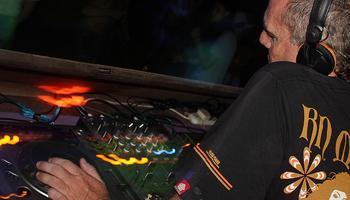 DJ Paul Tylor at the Shivamoon party